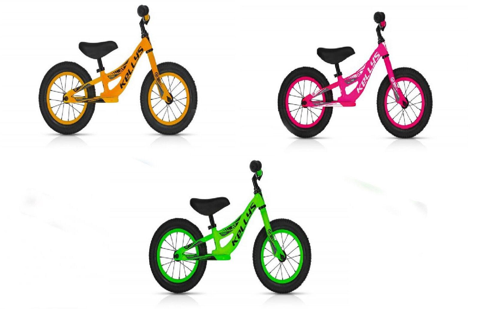 "KITE 12 "" - NEON - Laufrad,Lauflernrad, Roller in  PINK / Green / Orange"