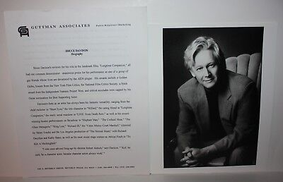 BRUCE DAVISON Actor Talent Agent Issued Photos and Bio 1990's