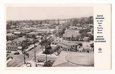1940's Frashers Fotos RPPC View SANTA BARBARA COURTHOUSE Postmarked 1949 EUC