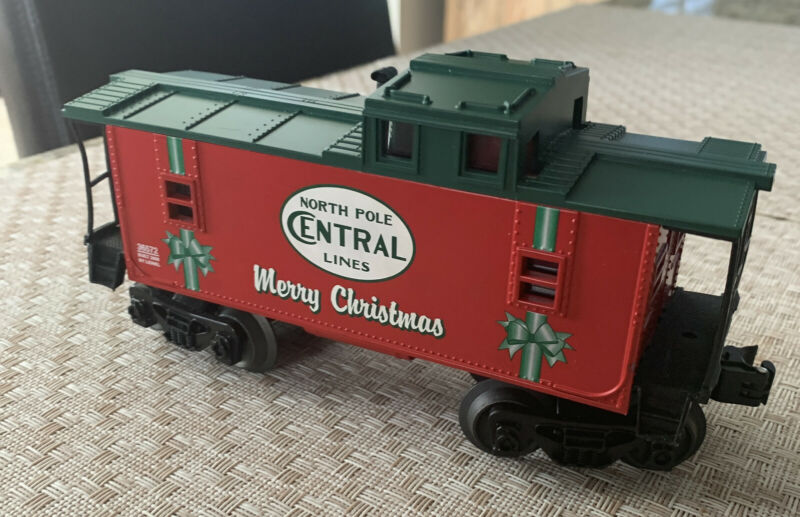 Lionel North Pole Central O Scale ILLUMINATED Caboose Lighted Merry Christmas