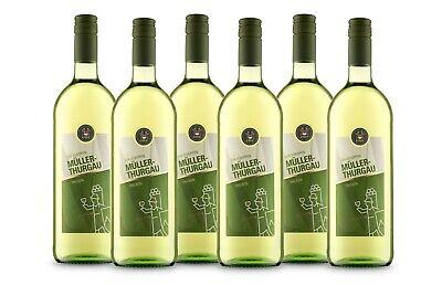 VIER SCHOPPEN Müller-Thurgau Weißwein aus Franken, QbA trocken (6x 1 l)