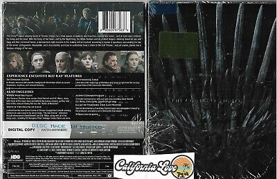 SEASON 8 GAME OF THRONES BLU-RAY COMPLETE FREE FAST SHIPPING ✔☆MINT☆✔ NO DIGITAL