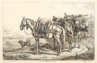 JOHANN ADAM KLEIN - IN DER CAMPAGNA VON ROM - Radierung 1846
