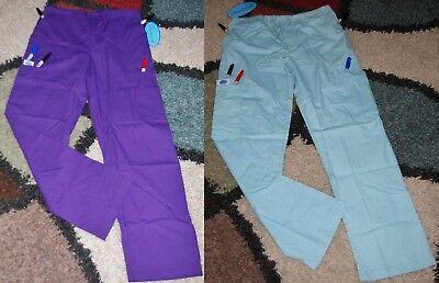 Frederick Drawstring Cargo 6 pocket Scrub Pant Elastic back Size XS Style 6110 ()