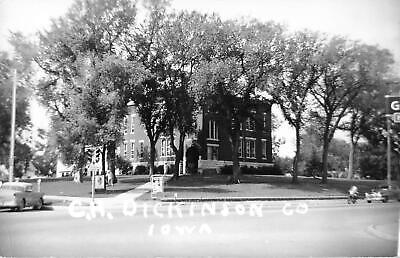 Vintage 1957 RPPC Postcard Court House Dickinson County Iowa Spirit Lake photo