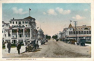 Early Autos Parked On Asbury Avenue  Asbury Park Nj