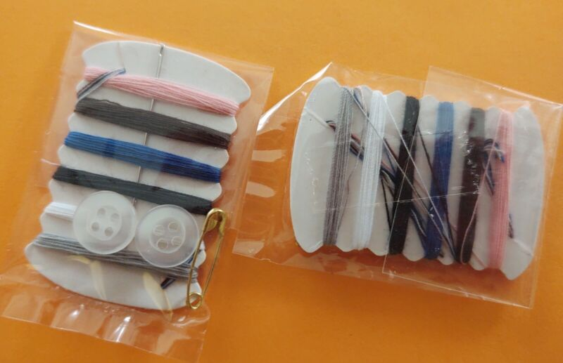 Sewing Kit Set, Emergency Kit, Needle, Thread, Button and safety pin. 10 Sets!