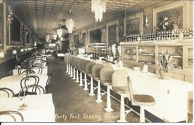 Nice Interior of Forty Fort Dining Room PA RPPC Real Photo unused