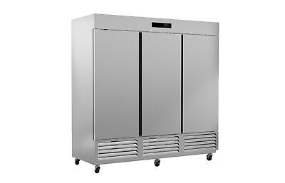 Ultra Cool 3 Door Reach In Refrigerator Cooler All Stainless 23 Yrs Warranty