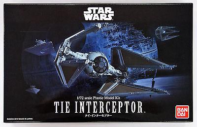 Bandai Star Wars Tie Interceptor 1/72 scale kit 080992