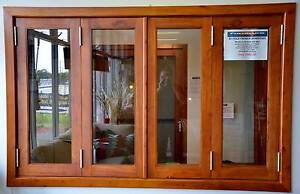 SOLID CEDAR BIFOLD WINDOW 2400W x 1200, NEW FULLY BUILT IN FRAME Canberra City North Canberra Preview