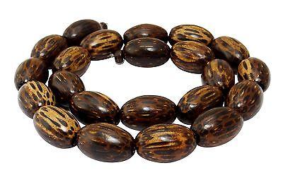 Hagalpalmholz Perlen große Oliven ca. 18x12 mm Holzperlen Naturperlen H.HA-6