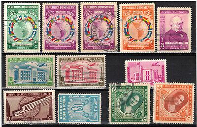 DOMINICAN REPUBLIC Scott 351//360 C40//C50 Used ## 1 cent start ##