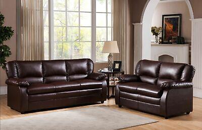 Kings Brand Furniture – 2 Piece Abanda Sofa & Loveseat Living Room Set, Brown