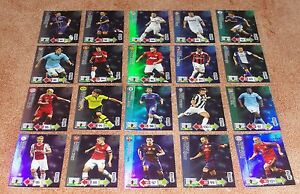 Adrenalyn Champions League 2012-13 Master complete set of 20 cards Rare & New - France - A wonderful complete set of 20 Master rare cards (only 1 every 15 packets !!) from Panini collection Adrenalyn Champions League 2012/2013. All cards are new and unused : - Christian Eriksen (Ajax) - Lukas Podolski (Arsenal) - Xavi Hernandez (Barc - France