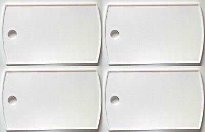4er Set Frühstücksbrett mit Loch weiß, klein 25x15cm, Schneidebrett Vesperbrett  ()