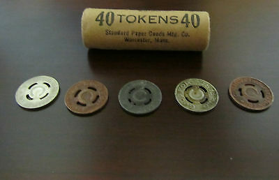 One Roll of 40 Conestoga Transportation Co. PA 525 Tokens