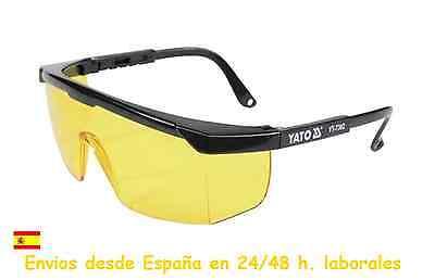 Gafas de seguridad amarillas marca Yato