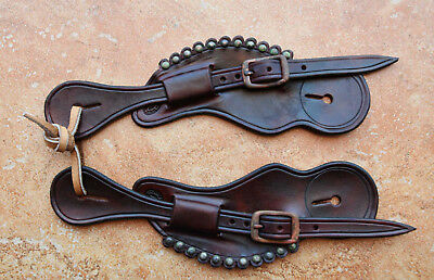 LADIES AUTHENTIC OLD WEST STYE Cowgirl  Handmade  SPUR STRAPS By Pappas