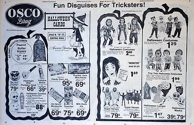 Osco Halloween Costume ad from 1974 - Planet of the Apes, Raggedy Ann, Goober