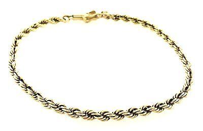 Fashionable 14k Yellow Gold Rope Chain Bracelet Circa 1980 WOW!