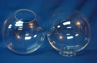 "10"" Plastic Acrylic Round Clear Globe Light Fixture Outdoor 4"" Neck Post Pole"