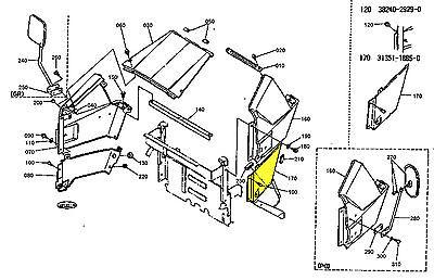 89 Kubota L Series L2550 Rear Hood Bonnet Panel Lh 31351-18850 30400-18850 Oem