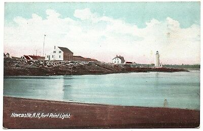 Fort Point Light Lighthouse New Hampshire Postcard H.C. Leighton Germany 2972