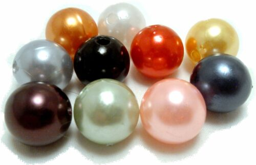 8mm Plastic Round Beads 2 cups, loose, approx 1188 beads