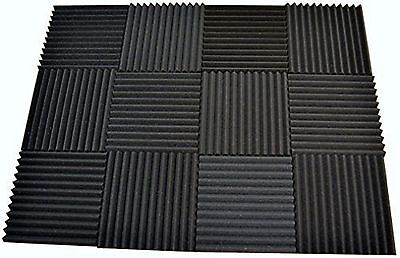 12 Pack - Acoustic Panels Studio Soundproofing Foam Wedge Tiles 1x12x12