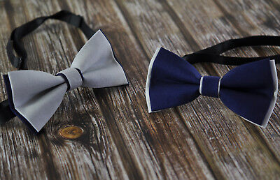 Boy Kids Baby Cotton Grey Silver Navy Blue Bow Tie Bowtie Wedding 1-6 Years Old Old Navy Bow Tie