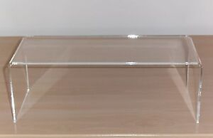 PERSPEX ACRYLIC DISPLAY CABINET STAND RISER 4mm SHELF
