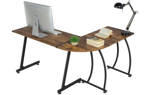 L-Shape Corner Computer Desk Table Study PC Laptop Workstati