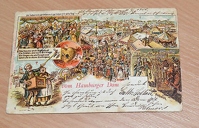 alte Ansichtskarte - Gruss vom Hamburger Dom, 1900