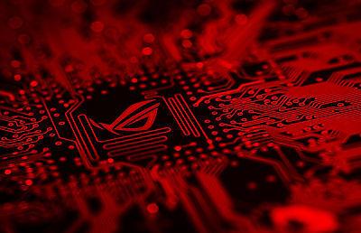 Leiter Gerahmt (Gerahmter Druck - Blood Red Leiterplatte (Bild Plakat Pcb Stück Gaming Spiel)