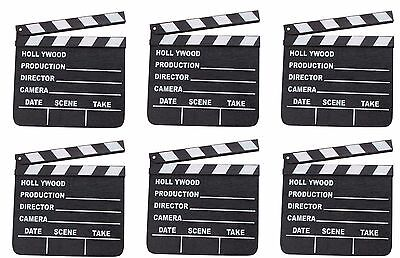 6 HOLLYWOOD CLAPBOARD CLAPPER CLAP BOARDS MOVIE SIGN DIRECTOR'S PROP CHALKBOARD - Clap Boards