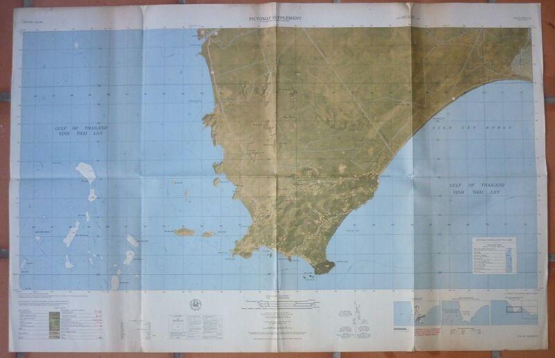 5929 iii N - RARE LARGE - US BATTLE MAP - KIEN GIANG - NUI BA HON - Vietnam War