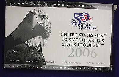 2006 U.S. Mint SILVER 50 State Quarter Proof Set. In original GRAY box.