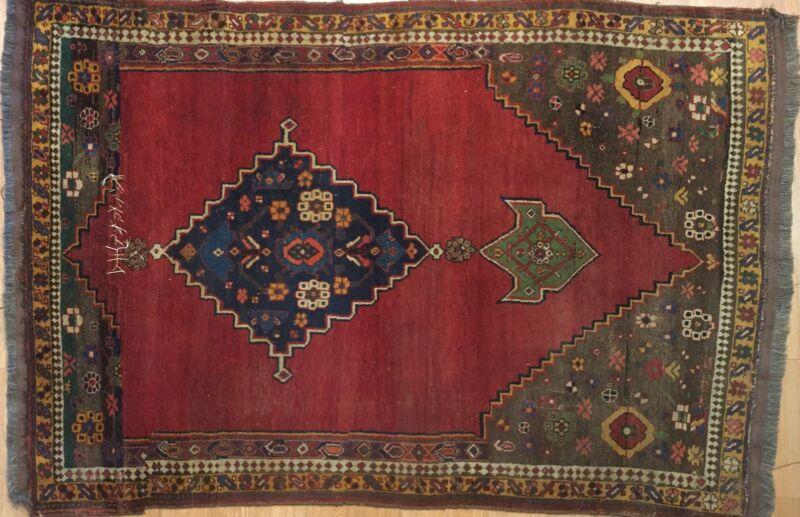 Beautiful Bijar - 1870s Antique Kurdish Rug - Persian Tribal Carpet - 4.1 X 6.1
