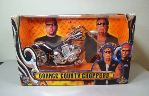 Orange County Choppers Iron Legends Die Cast Motorcycle 1:6 Black Red Silver