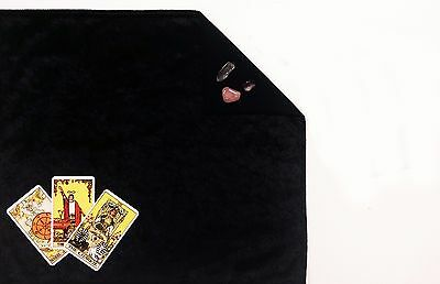 "Black Velvet Lined Tarot Cloth 18""x20"" Lined Altar or Spread Cloth"