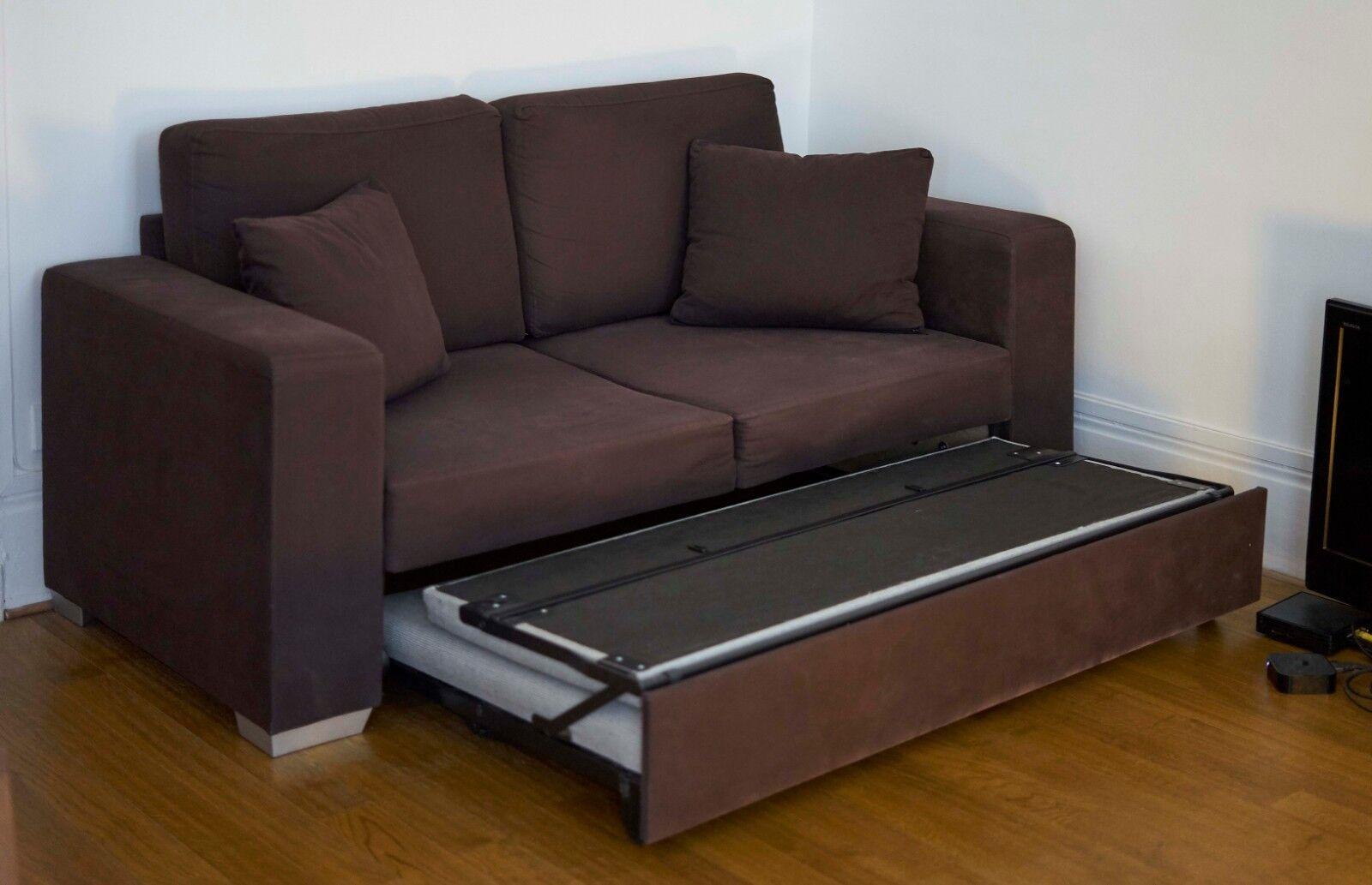 Canapé lit convertible en tissu marron fly