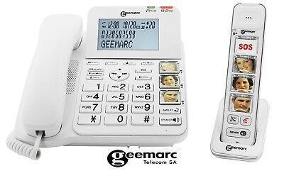 Amplidect 295 Combi Telefon+ Foto Mobilteil Photodect DECT Hörgeräte Geemarc SET