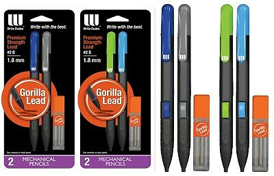 2 Pks Gorilla Lead Mechanical Pencils Refills-write Dudes-thick 2-1.8 Mm Lot