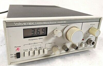 Wavetek 952 Sinusoidal Output Electronic Tester Sweep Frequency Rf Generator