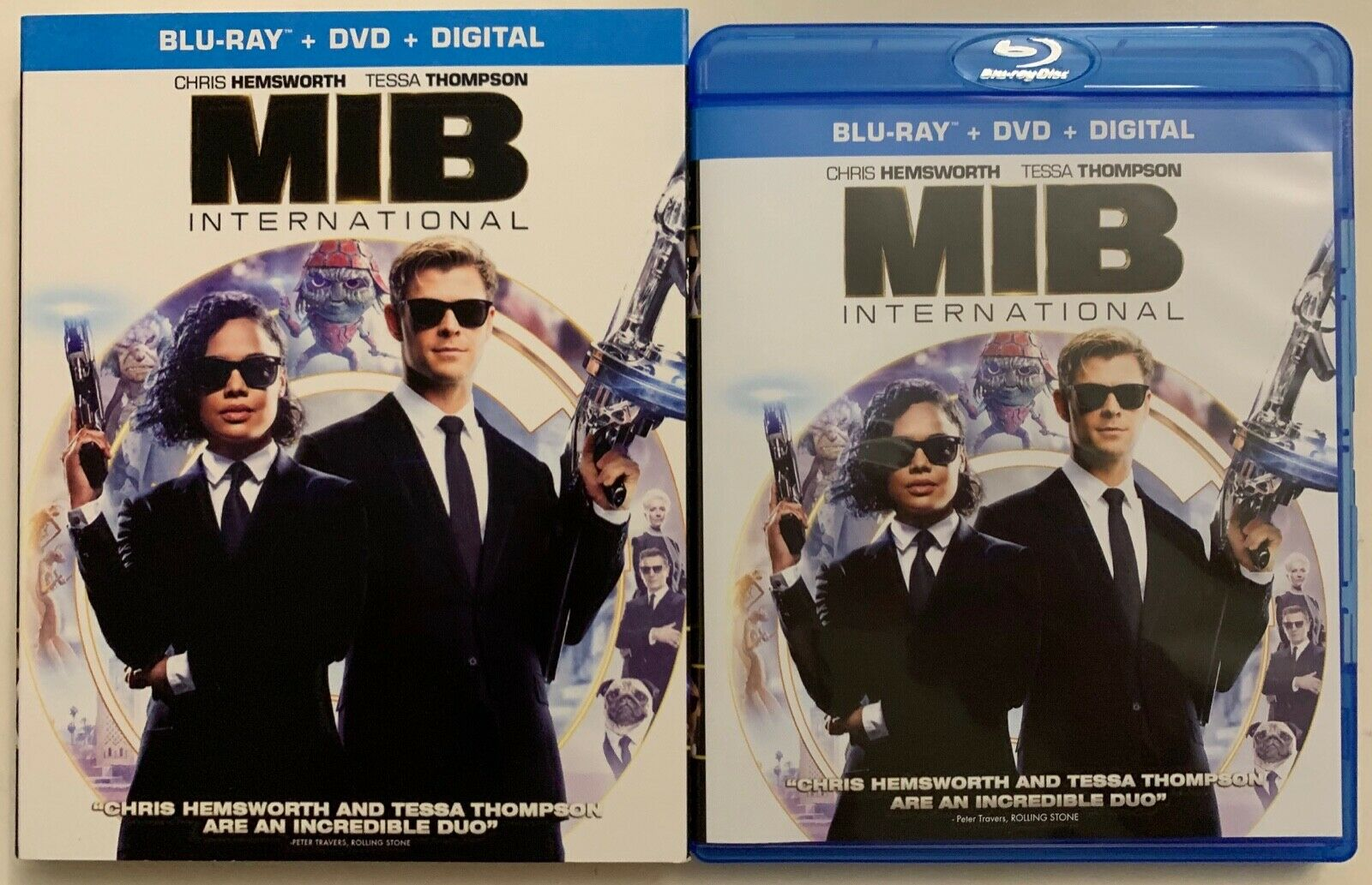 MEN IN BLACK INTERNATIONAL BLU RAY DVD 2 DISC SET + SLIPCOVE