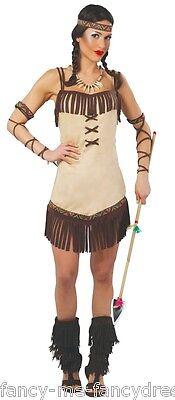Femmes Sexy Indien D'Amérique Squaw Far West Costume Déguisement