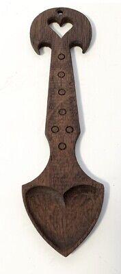 Vintage Carved Wood Welsh Love Spoon