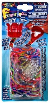 Rainbow Loom Finger Loom Rubber Band Crafting Kit [Red] ()