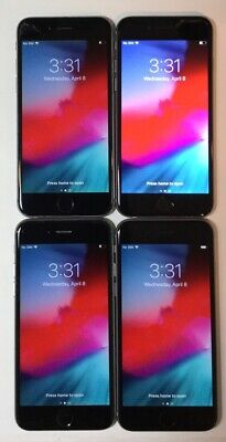LOT OF 4 TESTED SPACE GRAY GSM UNLOCKED GLOBAL APPLE iPhone 6, 16GB PHONES Q60T na sprzedaż  Wysyłka do Poland
